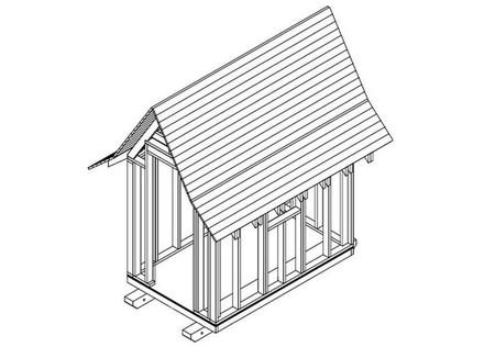 Каркасный сарайчик или детский домик