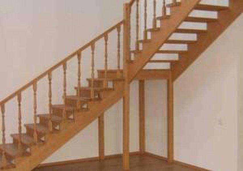 Маршевая лестница из дерева своими руками