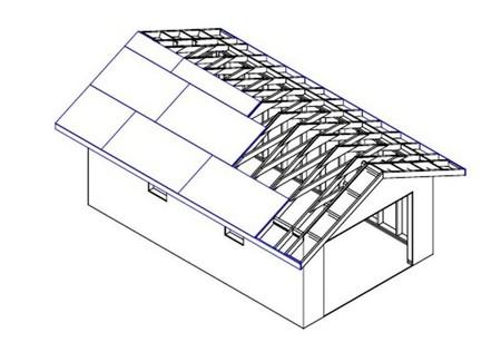 Простой проект каркасного гаража