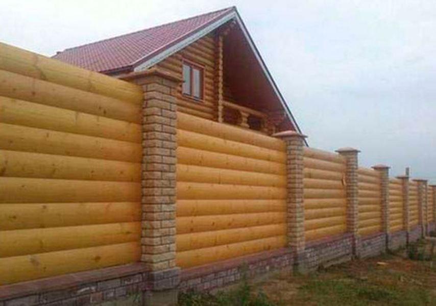 Забор из блок хауса