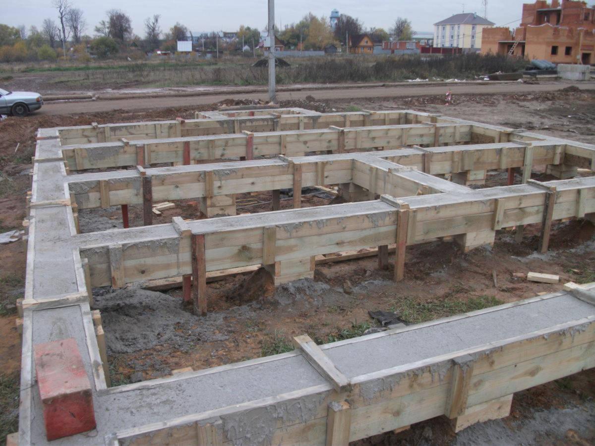 фундамент поэтапное строительство