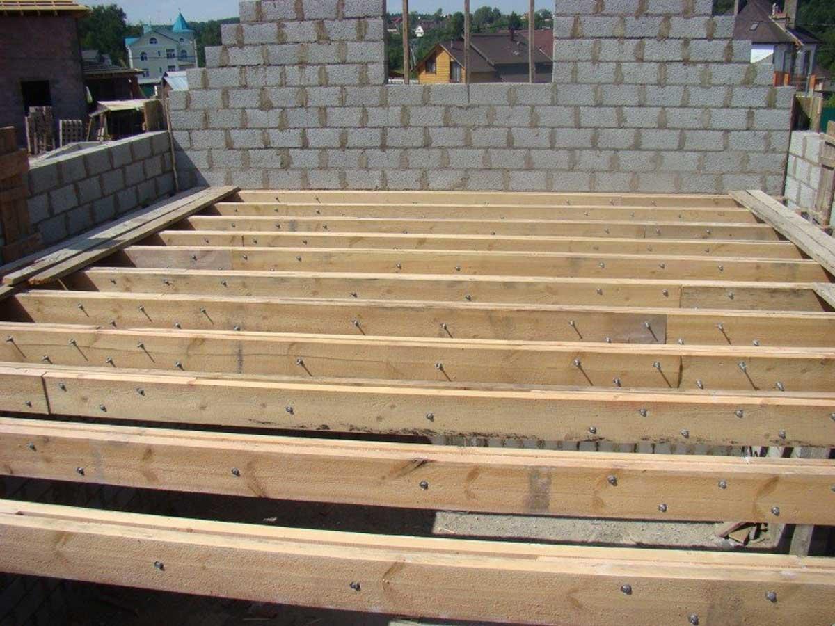 балки перекрытия деревянные гост размеры