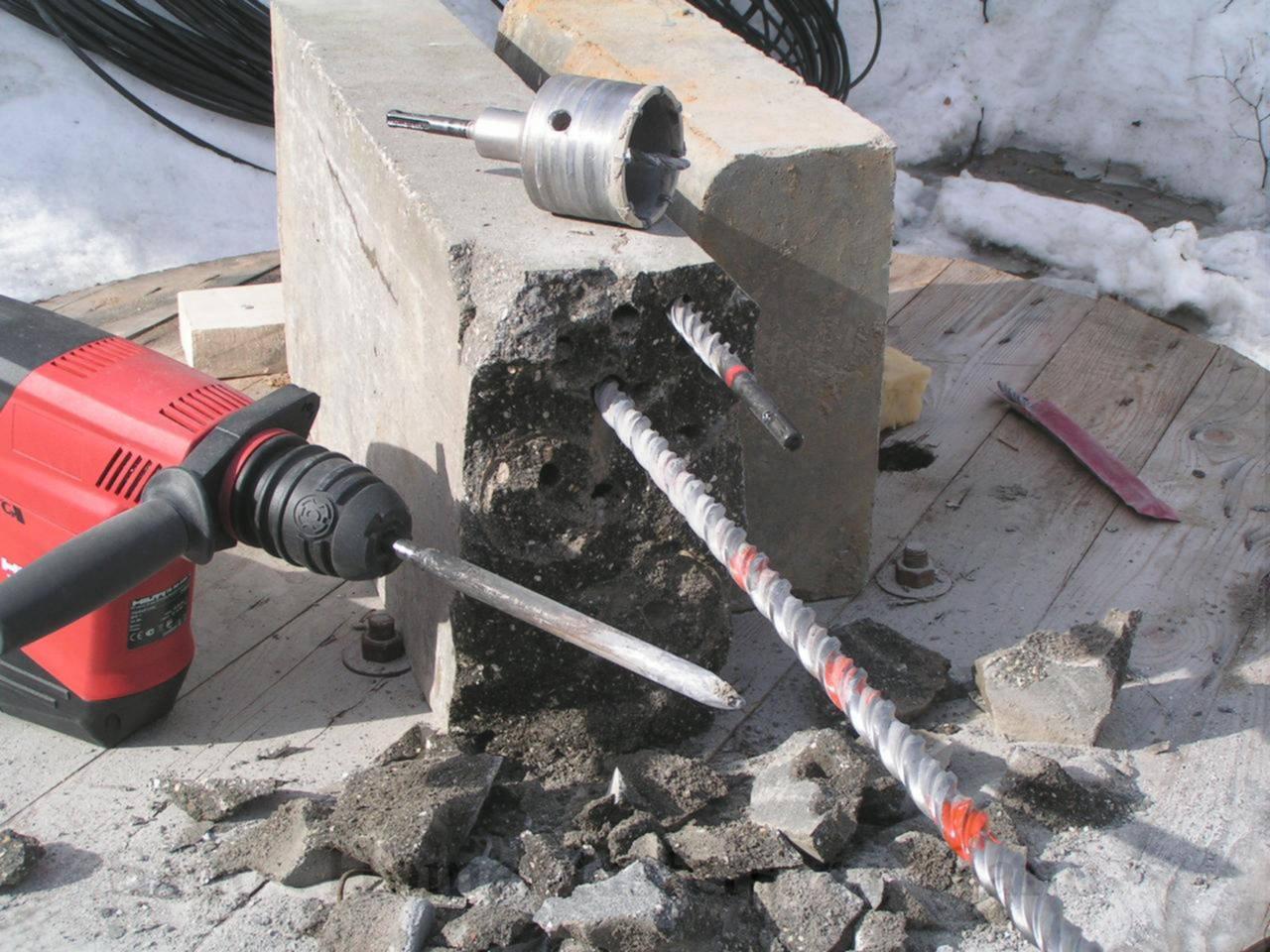 нужна дрель для бетона