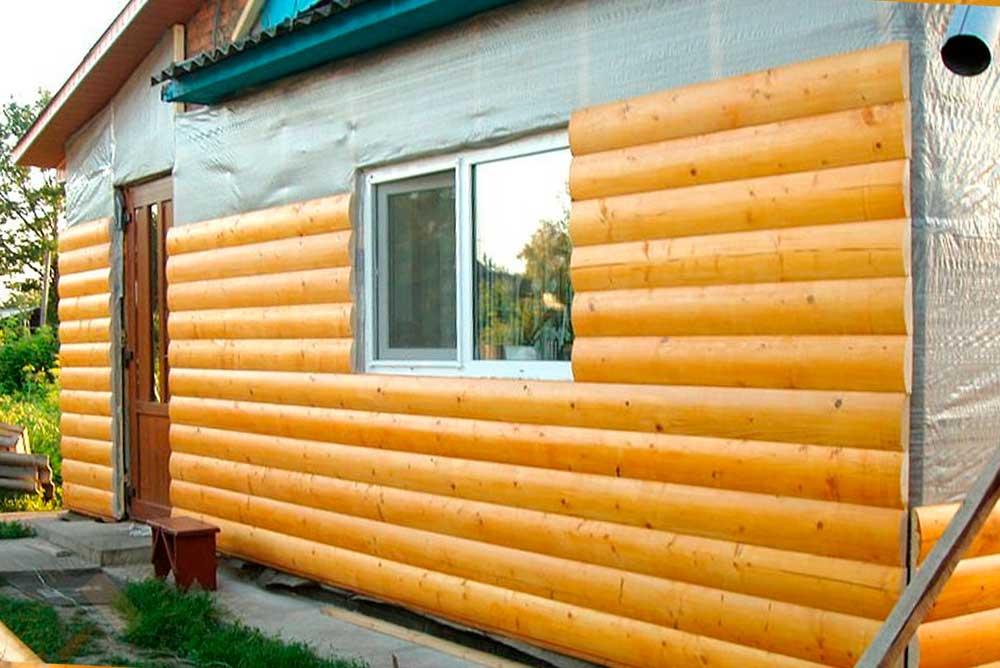 Блок-хаус - альтернатива мимтации бруса