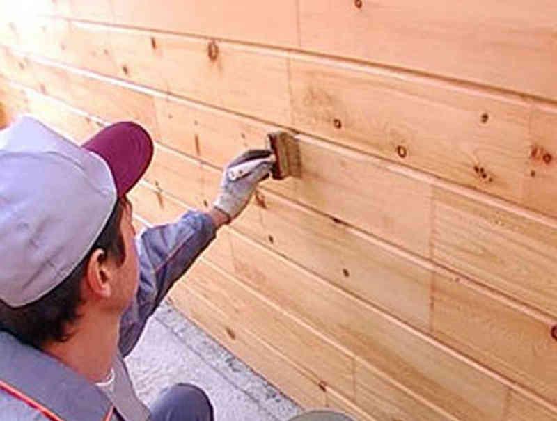 Обработка стены из вагонки