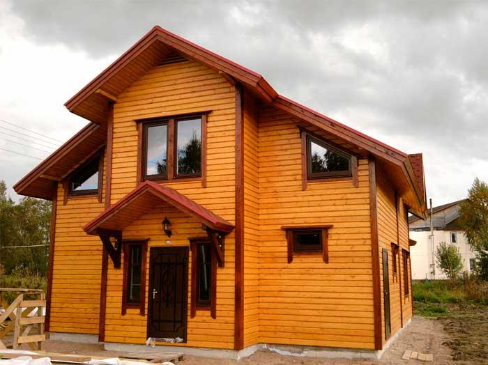 Готовый вид утепленного деревянного дома