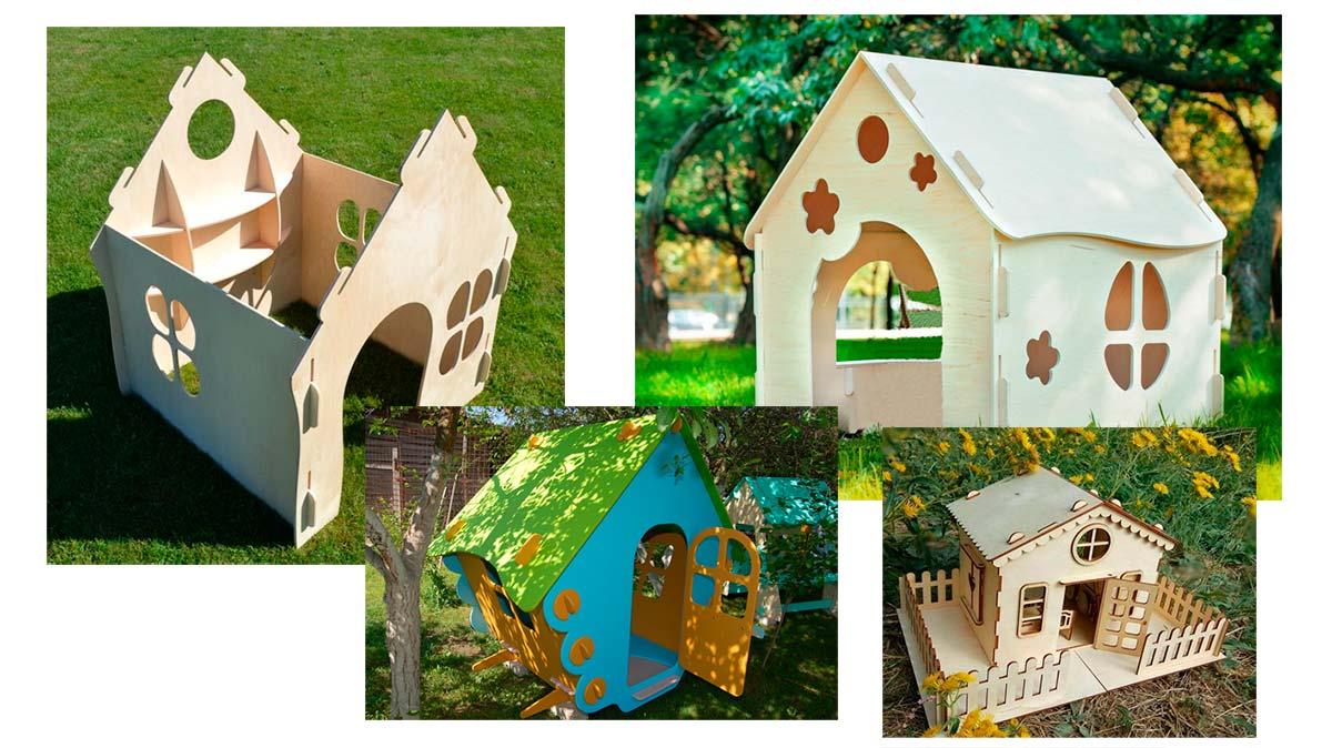 Детские домики из фанеры