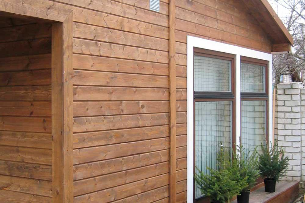 Имитация бруса для фасада дома